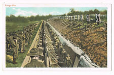 Range Pits Troops Ready For Target Practice At Army Camp WWI Postcard 1915-1918