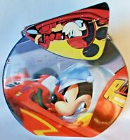 Disney Racing Tin Lunch Box Mickey Mouse Donald Duck