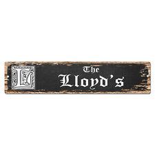 SPFN0493 The LLOYD'S Family Name Street Chic Sign Home Decor Gift Ideas