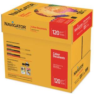 NEW A4 NAVIGATOR 120GSM PREMIUM QUALITY PAPER, WHITE COPY COPIER PRINTING OFFICE