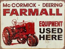 "MCCORMICK-DEERING THRESHERS 9/"" x 12/"" ALUMINUM Sign"