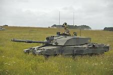 British Army King's Royal Hussars Manning Challenger 2 Tank Photo 12x8 Inch