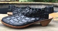 Rieker -Antistress SINA Black Leather Shoes Size-40- 9.5-10-EC