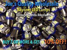 (5)BAYONET LED-LAMP/6.3V AC-COOL BLUE- STEREO PREAMP-BA9s/SA700,SA600,SA500