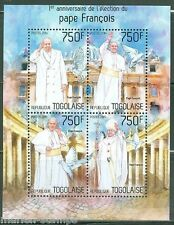 TOGO 1st  ANNIVERSARY ELECTION OF POPE FRANCIS  SHEET MINT NH