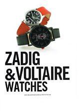 PUBLICITE ADVERTISING 2012   ZADIG & VOLTAIRE  montres