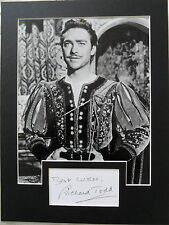 RICHARD TODD Signed 13x9 Photo Display ROBIN HOOD & THE DAMBUSTERS  COA