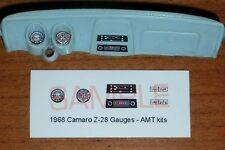 1968 CHEVROLET CAMARO Z28 GAUGE FACES for 1/25 scale AMT KITS