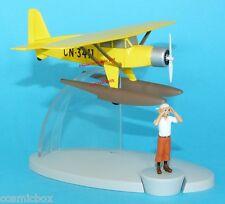 AVION jaune TINTIN Hydravion métal Bellanca 31 Pacemaker seaplane plane Flugzeug