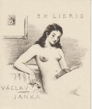 Ex libris ART DECO erotic  Exlibris by NEUMANN ARNO / Czech