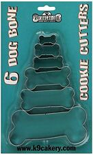 K9Cakery 6 Bone Shaped Cookie Cutters , New, Free Shipping