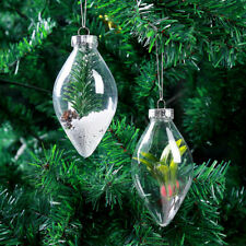 Christmas Ornament Tree DIY Gift Candy Ball Box Transparent Plastic Clear Craft