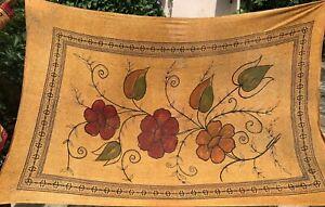 Nappe indienne Batik Coton Couvre-lit Inde Motifs indiens Fleurs Multicouleur L