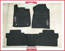 2014-2021 TOYOTA TUNDRA TRD PRO ALL WEATHER FLOOR LINERS / RUBBER FLOOR MATS