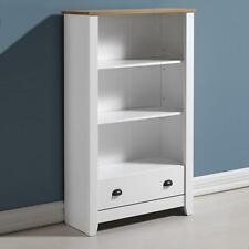 LUDLOW WHITE & OAK EFFECT 1 DRAWER BOOKCASE *FREE NEXT DAY DELIVERY