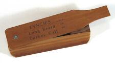Vintage Lynch Model 150 Long Beard Turkey Call Box Call Walnut Wood