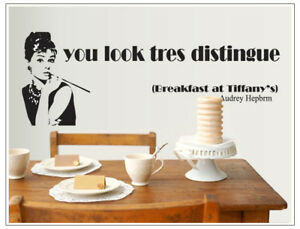 Audrey Hepburn Removable Wall Stickers Decal Vinyl Kids Bedroom Nursery Home Dec