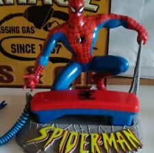 Spiderman Corded Telephones vintage Rec object interior From Japan Excellent