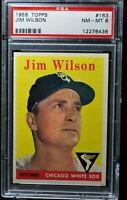 1958 Topps - Jim Wilson - #163 - PSA 8 - NM-MT