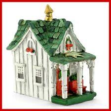 Miniature Dollhouse Fairy Garden Micro Christmas Cottage Fairy House Figurine NE