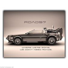 Delorean back to the future citation métal mural signe plaque porte signe imprimé poster
