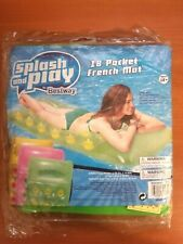 New Sealed Green 18 Pocket French Mat Inflatable Pool Raft Floating Swimming