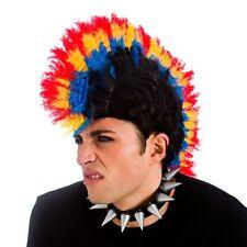 AÑOS 80 Punk Rockero de color Mohicano Peluca Mohawk Rock Gótico Emo