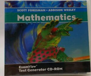 NEW: Foresman-Wesley Mathematics  ExamView Test Generator CD ROM software
