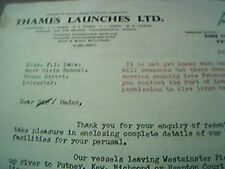letter 1969 thames launches twickenham to moat girls school for trip leicester