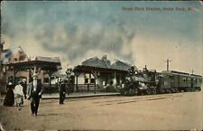Ocean Park ME RR Train Station Depot c1910 Postcard