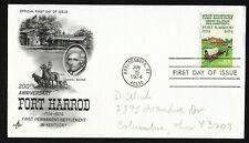 #1542 10c Fort Harrod -Daniel Boone - First Kentucky Settlement - ArtCraft FDC