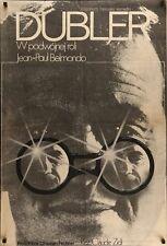 L'ANIMAL STUNTWOMAN Polish B1 movie poster JEAN-PAUL BELMONDO RAQUEL WELCH