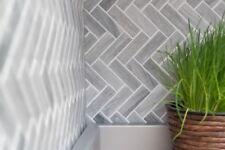MOSAIC tile ceramic herringbone stone look gray kitchen wall 24-SO32_b | 1 sheet