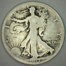 1917 S OBV Walking Liberty Silver Half Dollar 50c US Type Coin Good K48