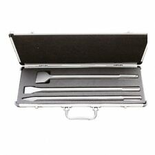 Scalpello set 3 pezzi SDS MAX valigetta alluminio punta-piatto-spatola edilizia