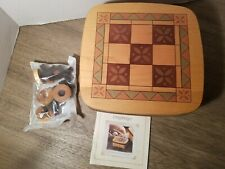 Longaberger Father's Day 2001 Tic Tac Toe Basket, Lid, Protector and X's & O's