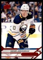 2020-21 Overtime Base Red Foil #11 Henri Jokiharju /99 -Buffalo Sabres