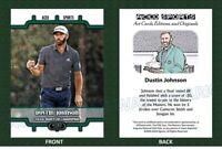 2020 Dustin Johnson Masters Commemorative Art Editions & Originals Golf Card