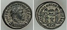 Ancient Rome Siscia AD 318-19 Constantine,BIL follis Victories,pellets on altar