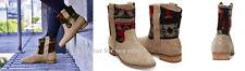 TOMS Women's Boot Tribal Desert Taupe Suede Laurel Boots 6.5