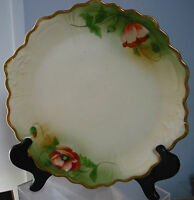 "Antique Z.S & Co Bavaria Platter/Charger 12.5"" dim Poppies"