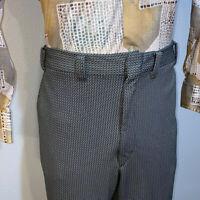 Vtg 60s 70s Polyester PANTS Mens 40 30 Leisure Suit GREEN Disco Hippie Mod RETRO