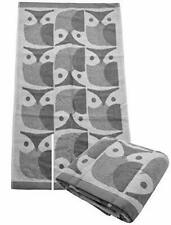 Orla Kiely Owl Towel, Grey Granite