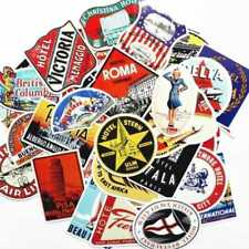 55pcs Retro Vintage Old Fashioned Style Luggage Suitcase Travel Stickers Gifts