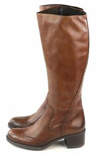 Summit White Mountain Chicago Knee High Boot Walnut Brown Leather Size 7 M US