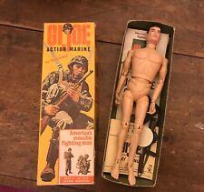 Vintage GI Joe Action Marine #7700 1964 Triple TM Box,Rubber Boots & TM/R Figure