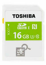 TOSHIBA 16GB NFC SDHC SD FLASH MEMORY CARD CLASS 10 UHS-I (UK Stock) nuovo con scatola