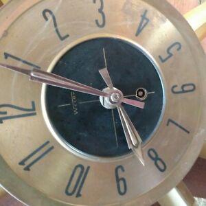 vintage welby starburst wall clock 30in wide wind up