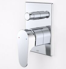 Dorf VIRIDIAN BATH/SHOWER MIXER+DIVERTER,CHROME, Cleans Smooth Surface AUS Brand