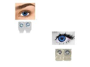 Soft Eye Aqua Blue & Dark Blue Color Lens with Case and Solution 2 Pair